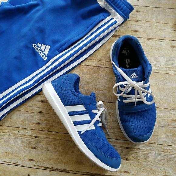adidas schuhe blaue laufen poshmark sz - 95